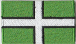 Devon Embroidered Flag Patch, style 04